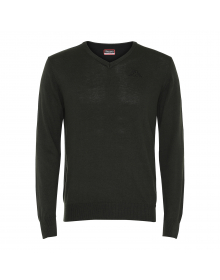 Knit Jumper, V-Neck Logo Ojo